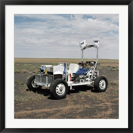Framed View of a 1-G Lunar Rover Vehicle Print