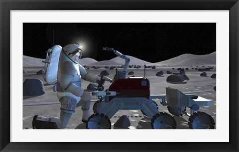 Framed Future Space Exploration Missions Print