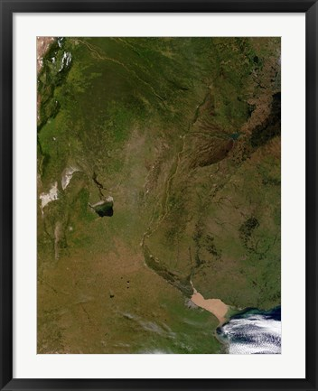 Framed Satellite view of Argentina Print
