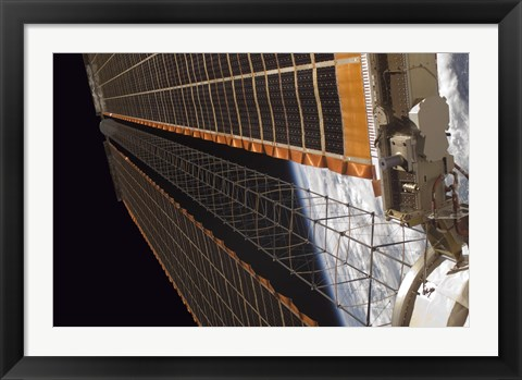 Framed Solar Array Wing on the International Space Station Print