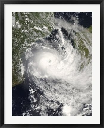 Framed Tropical Cyclone Jokwe in the Mozambique Channel Print