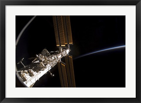 Framed Section of the International Space Station Print