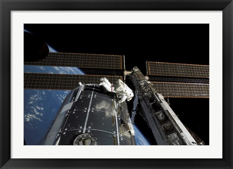 Framed panoramic view of the International Space Station Print