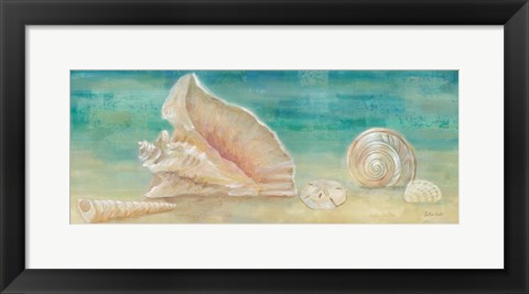 Framed Horizon Shells Panel II Print