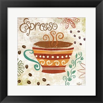 Framed Colorful Coffee III Print