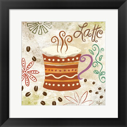 Framed Colorful Coffee IV Print
