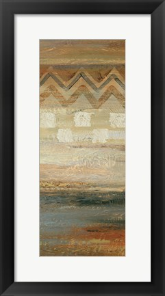 Framed Siena Geometric Panel II Print