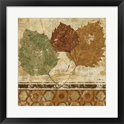 Framed Golden Autumn II Print
