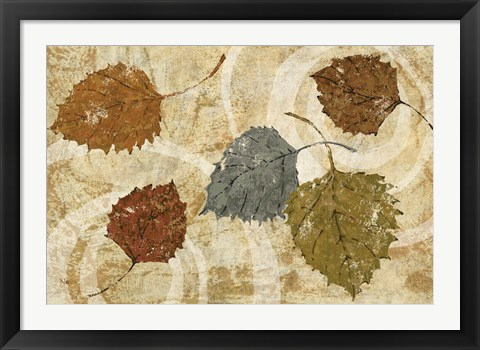 Framed Golden Autumn Landscape Print