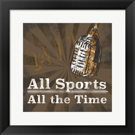 Framed Sports Talk II Print