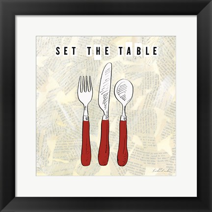 Framed Kitchen Utensils III Print