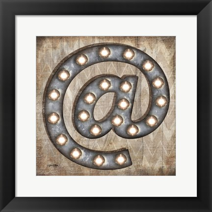 Framed Marquee Symbols II Print