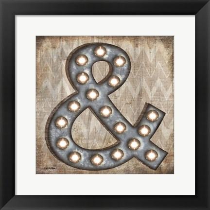 Framed Marquee Symbols IV Print