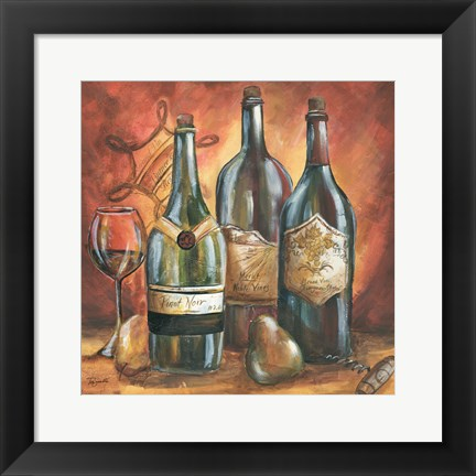 Framed Red and Gold Wine I Print
