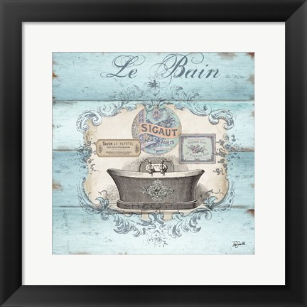Framed Rustic French Bath II Print
