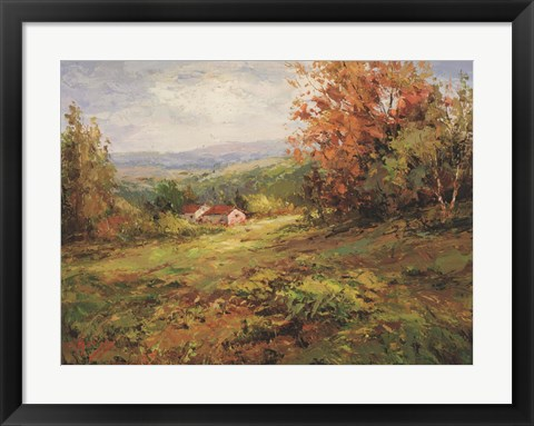 Framed Italian Country Home Print