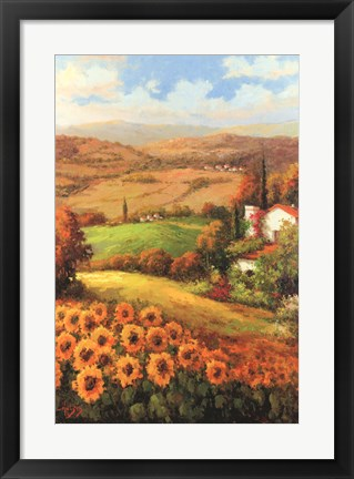 Framed Italian Countryside Print