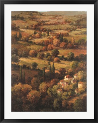 Framed Mediterranean Countryside Print