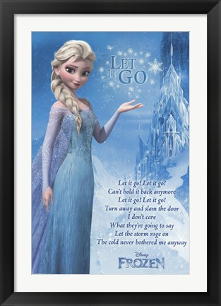 Framed Frozen - Lyrics Print