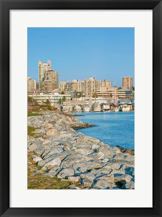 Framed Waterfront, Vancouver, British Columbia, Canada Print