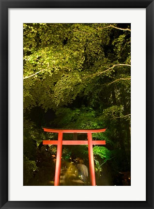 Framed British Columbia, Victoria, Butchart Gardens Print