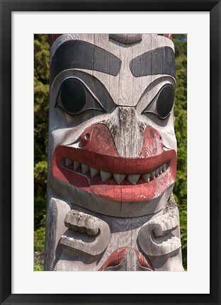 Framed Totem Pole, Queen Charlotte Islands, Canada Print