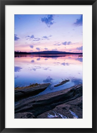 Framed Canada, BC, Salt Spring Island, Southie Point Dawn Print