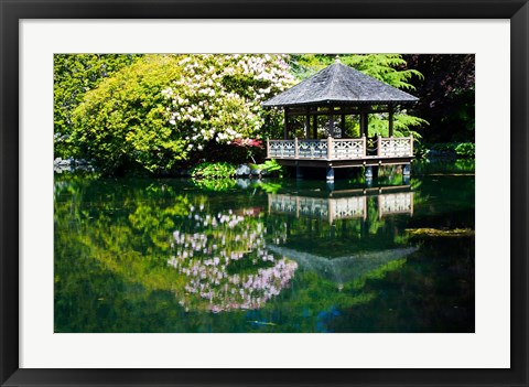 Framed British Columbia, Vancouver, Hately Gardens, Hut Print