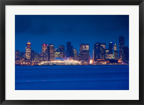 Framed City view form North Vancouver, British Columbia, Canada Print