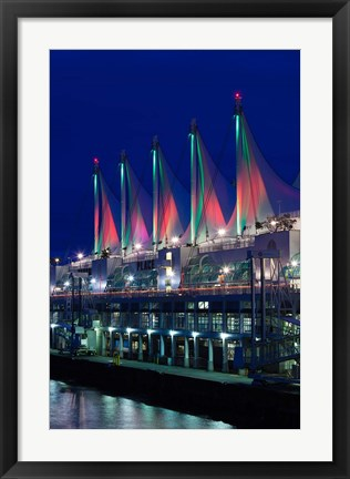 Framed Dawn, Canada Place, Vancouver, British Columbia, Canada Print