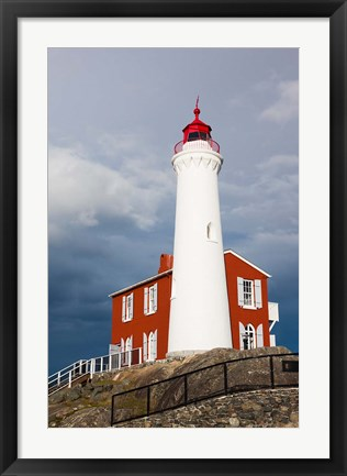 Framed Fisgard Lighthouse, Victoria, Vancouver Island, British Columbia, Canada Print