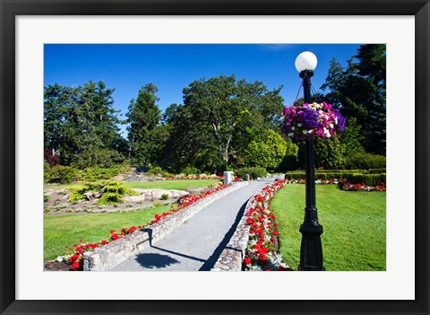 Framed Gardens at Governor's House Victoria, British Columbia, Canada Print