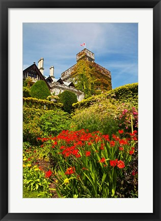 Framed Summer in Hately Gardens, Victoria, British Columbia Print
