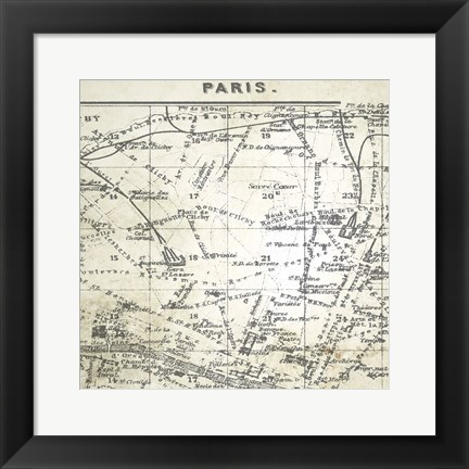 Framed All About Paris IV Print