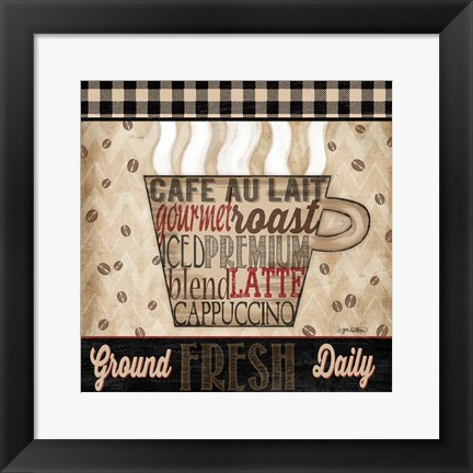 Framed Premium Coffee I Print