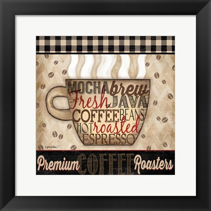 Framed Premium Coffee II Print