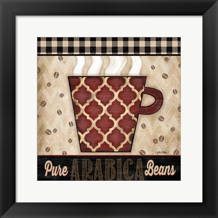 Framed Premium Coffee III Print