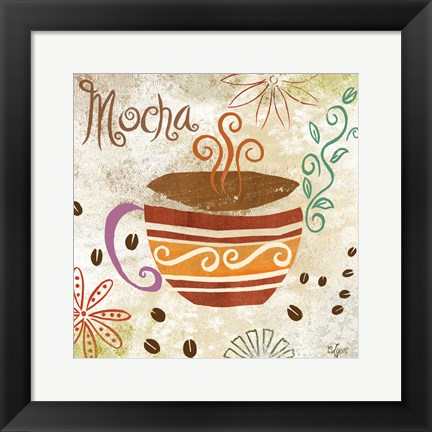 Framed Colorful Coffee I Print