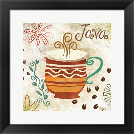 Framed Colorful Coffee II Print