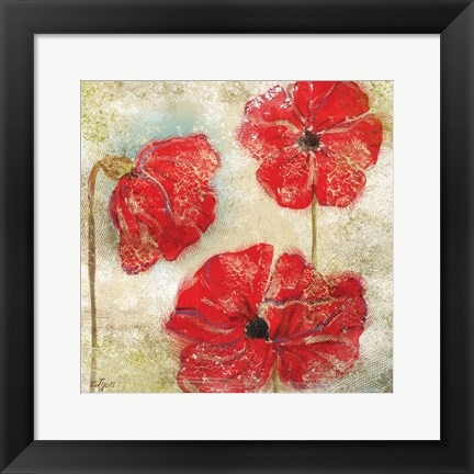 Framed Poppy Passion II Print