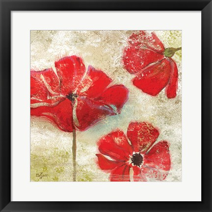Framed Poppy Passion I Print