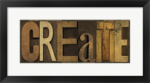 Framed Printers Block Sentiment Panel II - Create Print