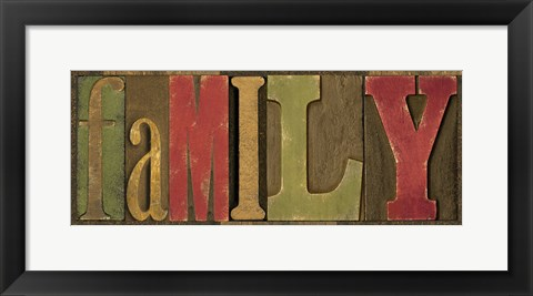 Framed Printers Block Sentiment Spice I - Family Print