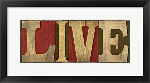 Framed Printers Block Sentiment Spice III - Live Print