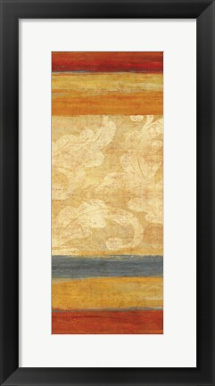 Framed Tapestry Stripe Panel I Print