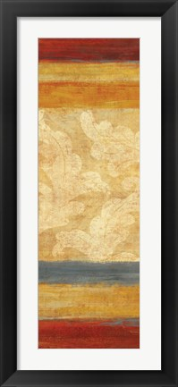 Framed Tapestry Stripe Panel II Print