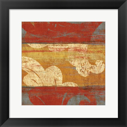 Framed Tapestry Stripe Square I Print