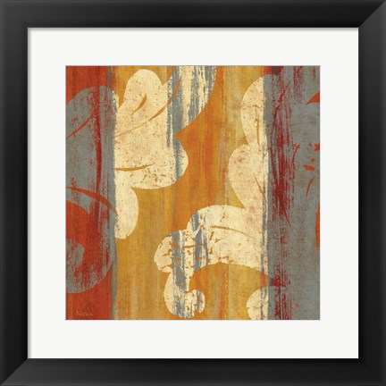 Framed Tapestry Stripe Square II Print