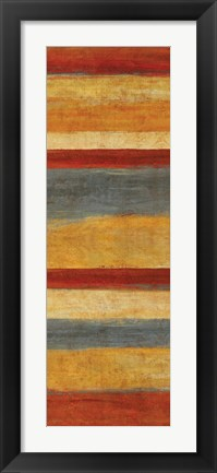 Framed Abstract Stripe Panels I Print