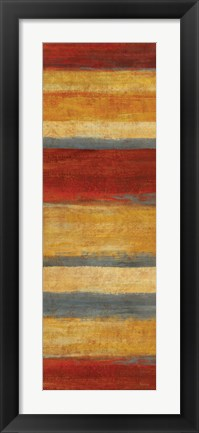 Framed Abstract Stripe Panels II Print